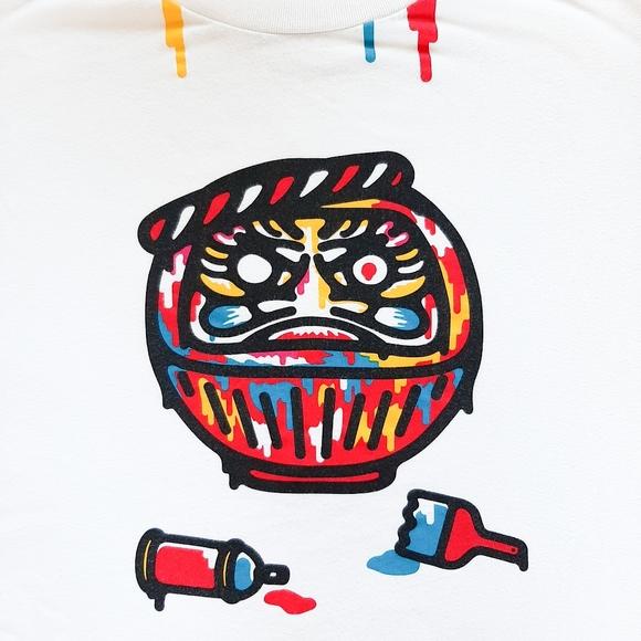 Uniqlo Nippon Omiyage abstract paint graphic tee